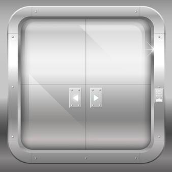 Metal double doors