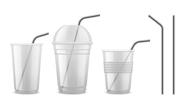 Metal drinking straw.