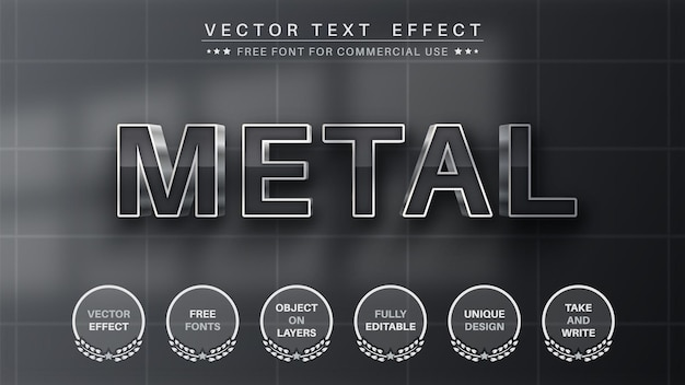 Metal edit text effect editable font style