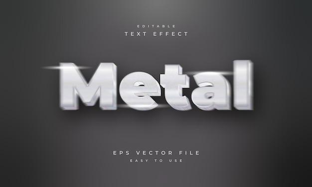 Metal editable 3d text effect