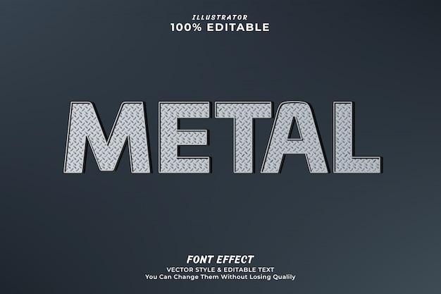 Metal editable text effect