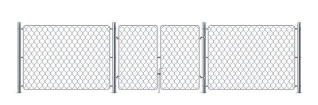 Металлический корпус с проволокой или забором полиции