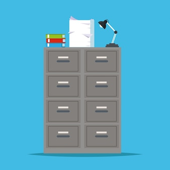 Metal filing cabinet storage lapm office