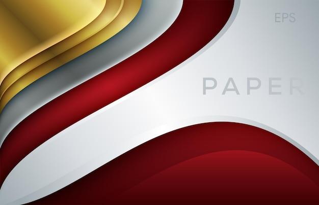 배경 현대 디지털 기술을 위한 밝은 은색 및 광택 라인 디자인이 있는 금속 프레임 추상 빨간색 및 흰색 금속