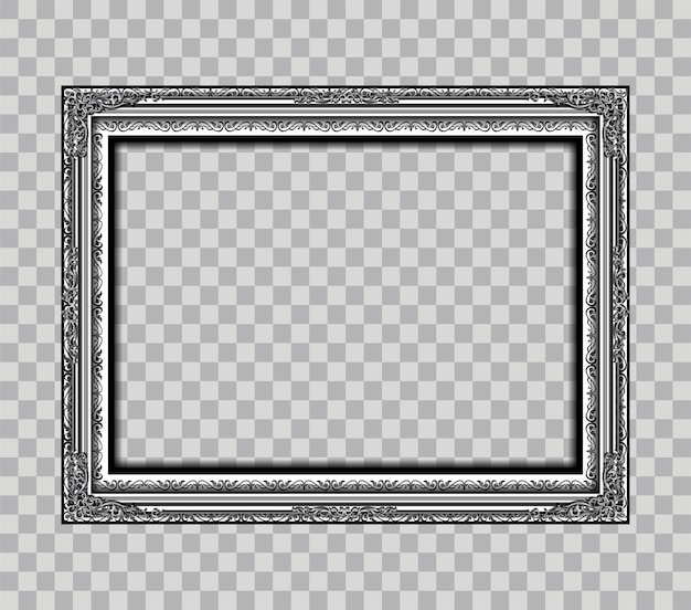 Metal frame isoleted on transparency