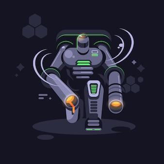 Metal futuristic robot