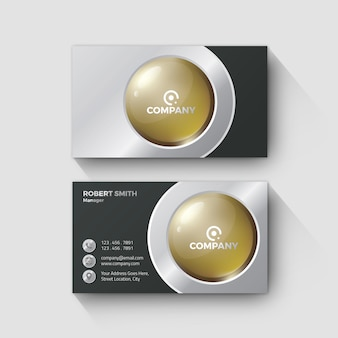 Metal and gold business card elegant design