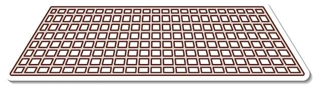 Adesivo cartone animato griglia metallica