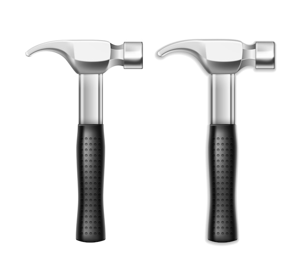 Metal hammers isolated