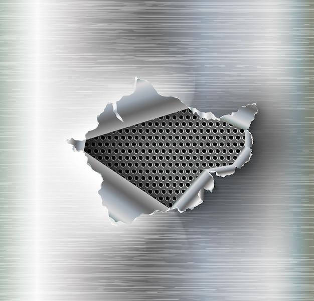 Metal hole.