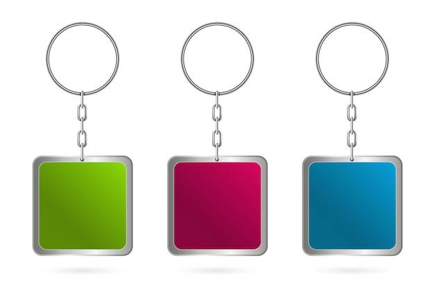 Metal keychains for keys