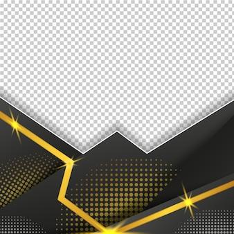 Металлическая линия с точечной матрицей, черная золотая рамка с подсветкой