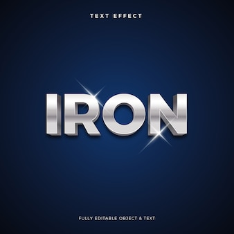Metal metal  text effect