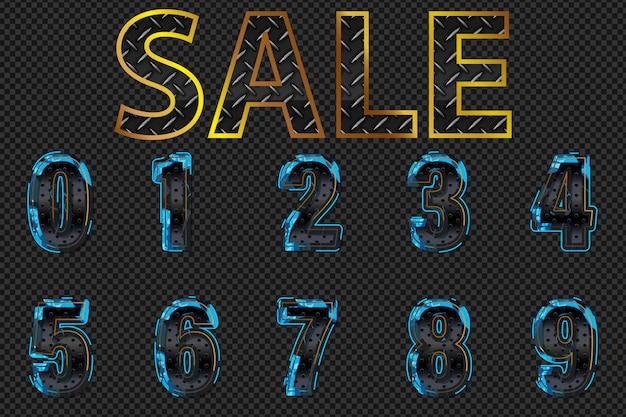 Metal numbers sale.