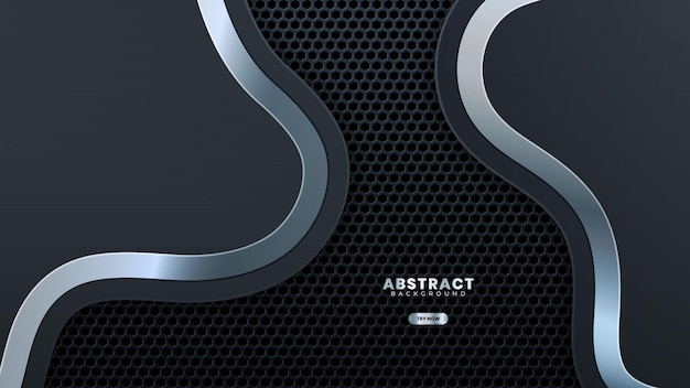 Metal perforated background with stainless steel wave design modern luxury futuristic background vector illustration.suitable for web banner, posters, flyer, cover, brochure