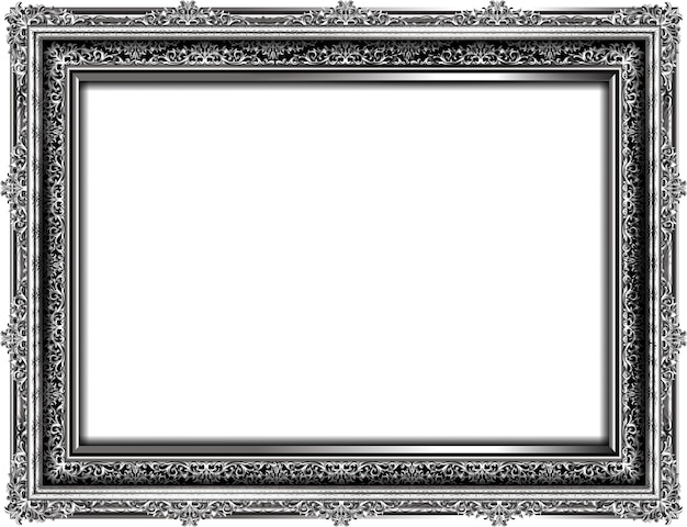 Metal photo frame with border art template