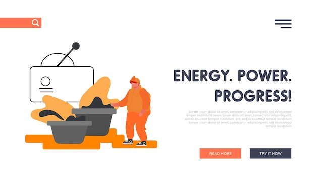 Metal production plant website landing page.