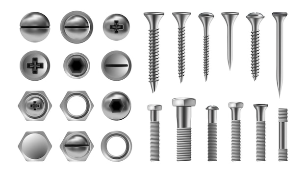 Metal screw set