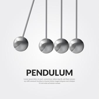 Metal sphere pendulum balance