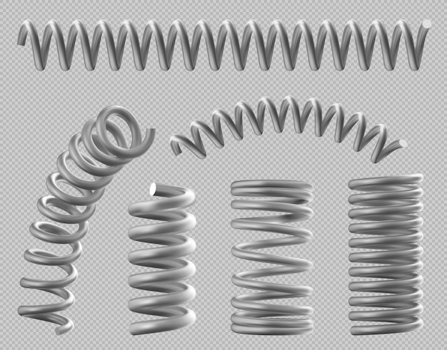 Metal springs realistic coils for bed or car set