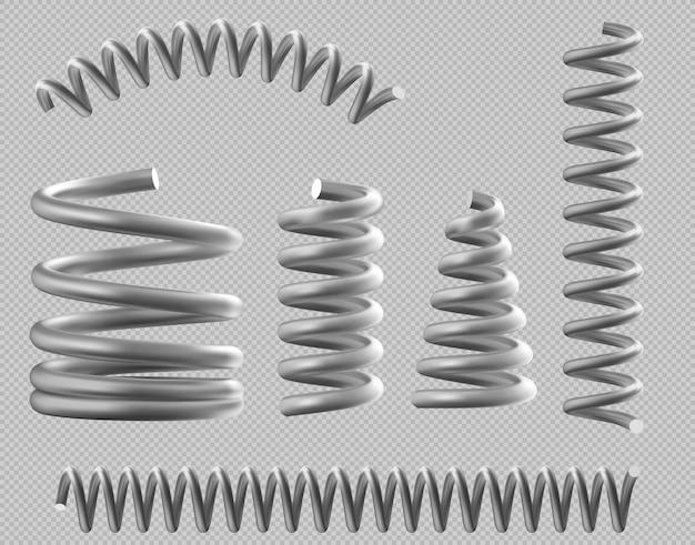 ベッドや車のセットのための金属ばねの現実的なコイル
