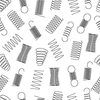 Metal springs seamless pattern