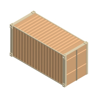 Металлический квадратный контейнер, изолированных на фоне