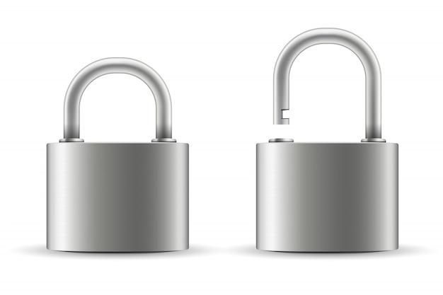 Metal steel lock.