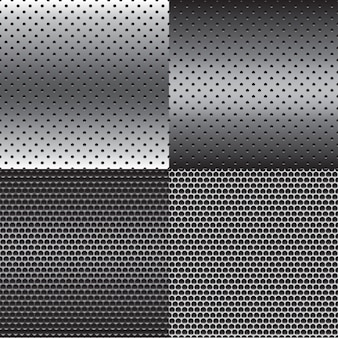 Metal texture background set