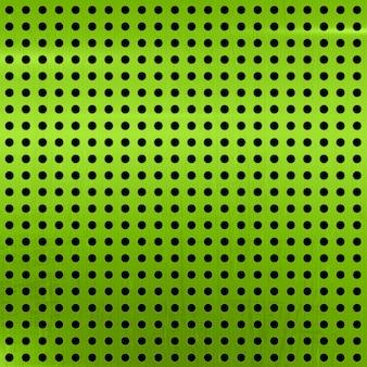 ドットが付いている金属のテクスチャの背景は、緑の磨かれた鋼のアルミニウム表面を抽象化します