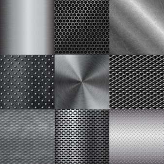 Металлическая текстура шаблон иллюстрации.
