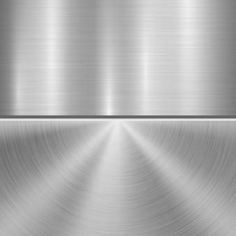 Metal textured technology background Premium Vector