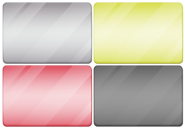 Металлические текстуры в четырех цветах