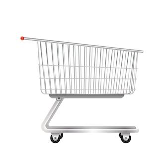 スーパーマーケットの金属製トロリー