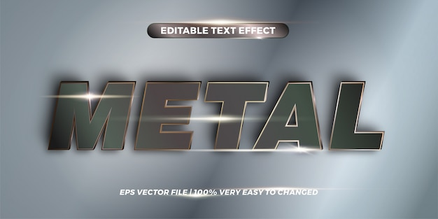 Metal words, text effect style  concept