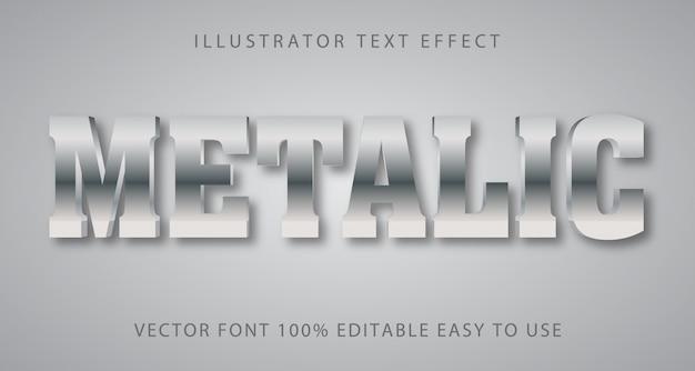 メタリック編集可能なテキスト効果