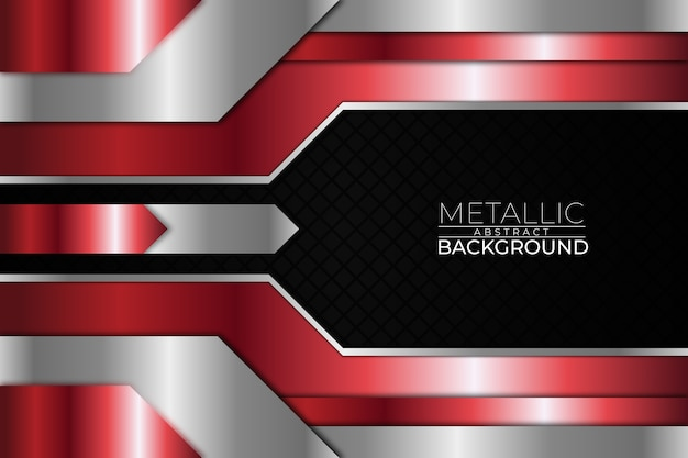 Metallic abstract background square red style