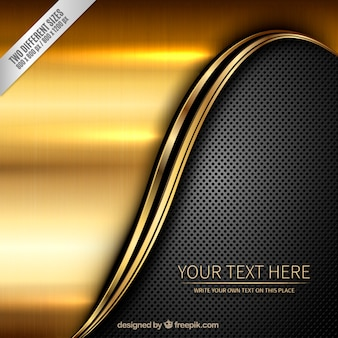 Metallic background in golden and dark colors