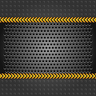 Metallic background template, perforated iron