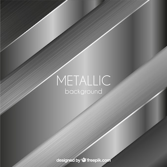 Metallic background with abstract shapes