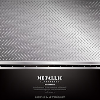 Metallic black and silver background