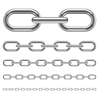 Metallic chain   illustration  on white background