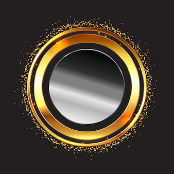 Metallic circular frame