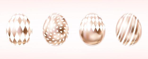Metallic eggs in pink color
