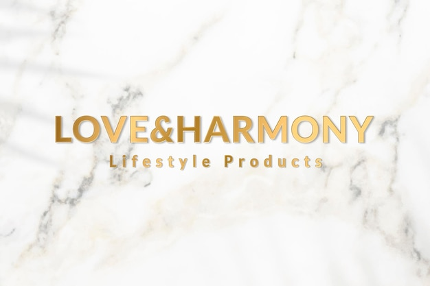 Metallic gold logo template vector for lifestyle products business