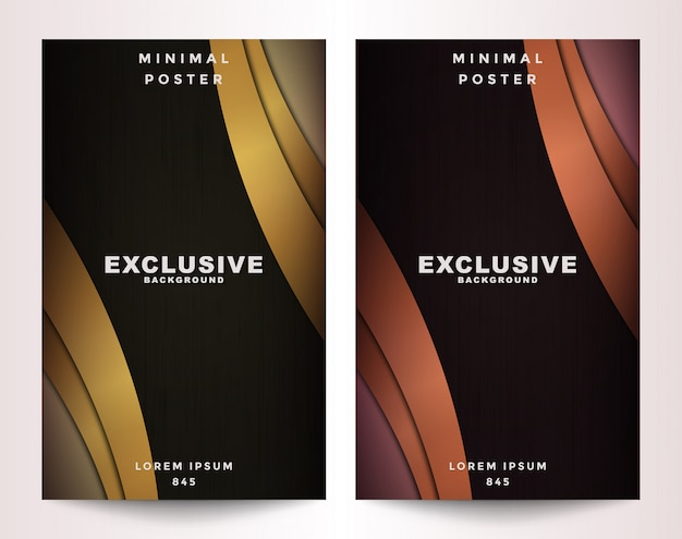 Metallic and gold set cover
