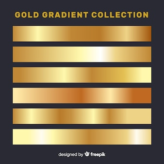 Metallic gradient stripes collection