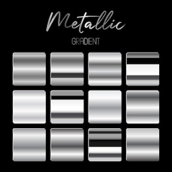 Metallic gradients   illustration  on black background