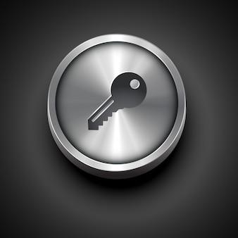 Metallic key icon