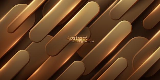Metallic luxury golden background. Premium Vector